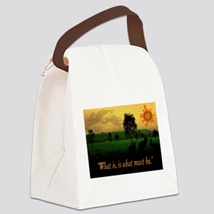 What Is, Is What Must Be Canvas Lunch Bag