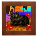 Tortoiseshell Cat Framed Tile