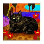 Tortoiseshell Cat Tile Coaster