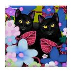 Black Cats Tile Coaster