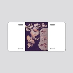 Vintage poster - Social Sec Aluminum License Plate
