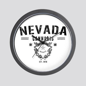 Nevada Cannabis Wall Clock