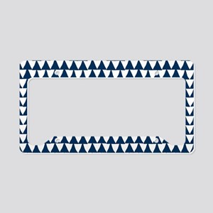 Blue, Navy: Triangle Arrows P License Plate Holder