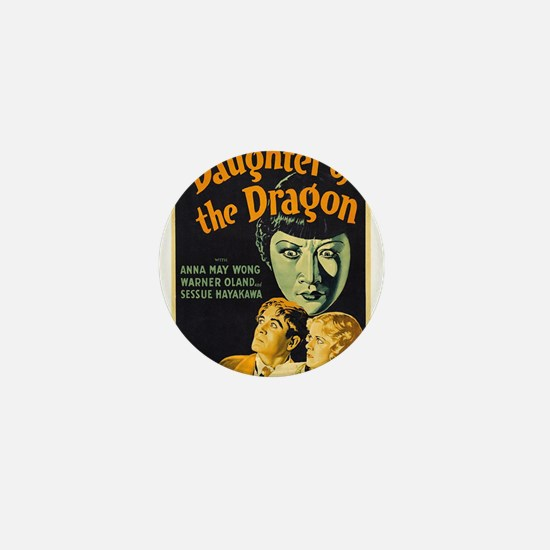 Vintage poster - Daughter of the Drago Mini Button
