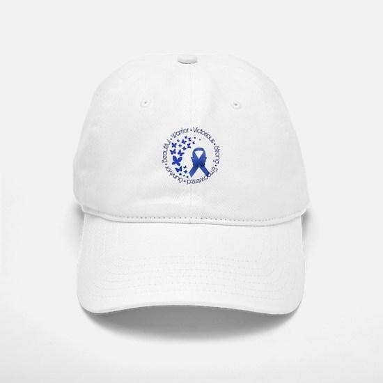Blue Awareness Ribbon Baseball Baseball Cap
