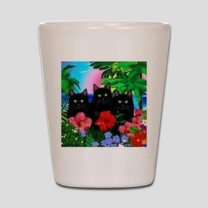 beachparadise bl cats Shot Glass