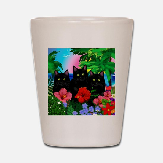 beachparadise bl cats.png Shot Glass