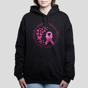 Breast Cancer Pink Ribbo Women's Hooded Sweatshirt
