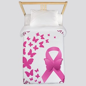 Breast Cancer Pink Ribbon Twin Duvet