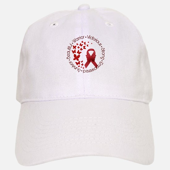 Red Awareness Ribbon with Butterflies Hat