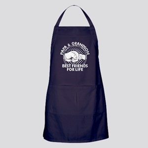 Papa And Grandson Best Friends For Life Apron (dar