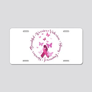 Breast Cancer Pink Ribbon Aluminum License Plate