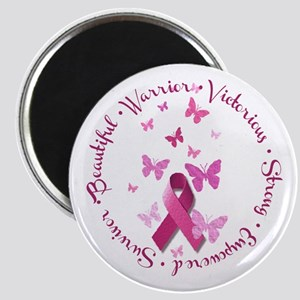 Breast Cancer Pink Ribbon Magnets