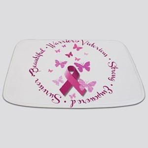 Breast Cancer Pink Ribbon Bathmat