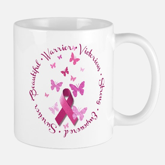 Breast Cancer Pink Ribbon Mugs