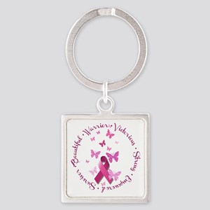 Breast Cancer Pink Ribbon Keychains