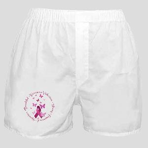 Breast Cancer Pink Ribbon Boxer Shorts