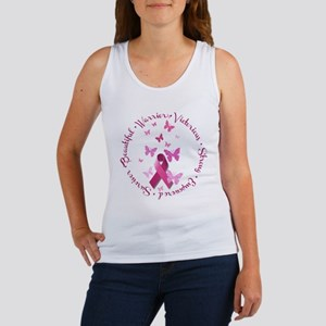 Breast Cancer Pink Ribbon Tank Top