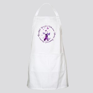 Purple Ribbon with Empowering Words Apron
