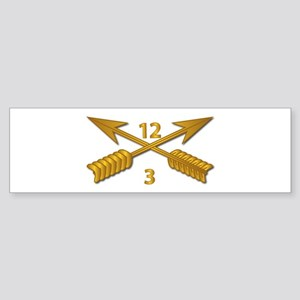 3rd Bn 12th SFG Branch wo Txt Sticker (Bumper)