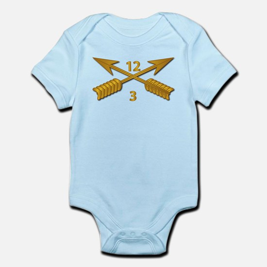 3rd Bn 12th SFG Branch wo Txt Infant Bodysuit