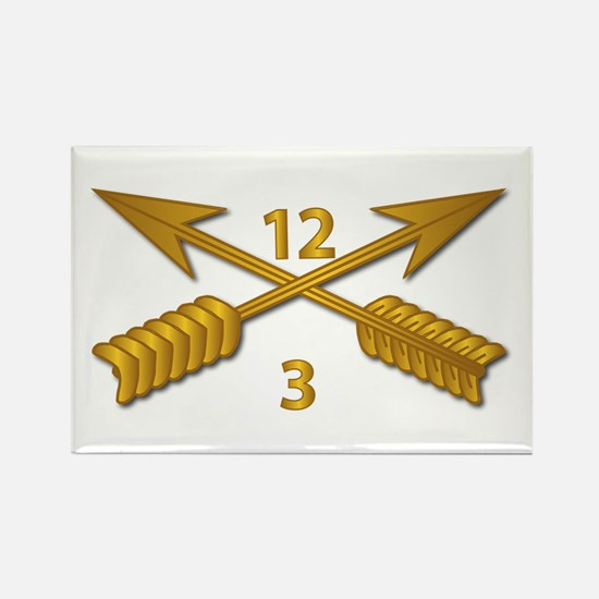 3rd Bn 12th SFG Branch wo Txt Rectangle Magnet
