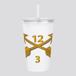 3rd Bn 12th SFG Branch Acrylic Double-wall Tumbler