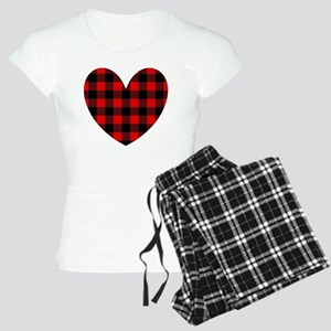 Buffalo Plaid Heart Pajamas