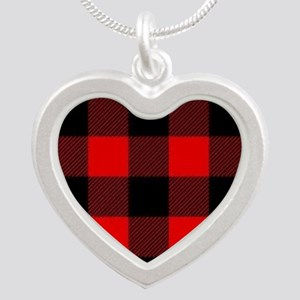 Buffalo Plaid Heart Necklaces