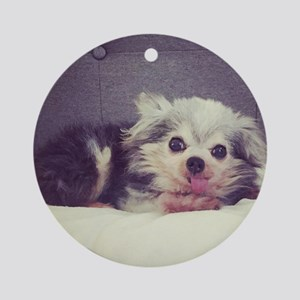 Mighty Little Max Round Ornament