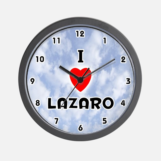 I Love Lazaro (Black) Valentine Wall Clock