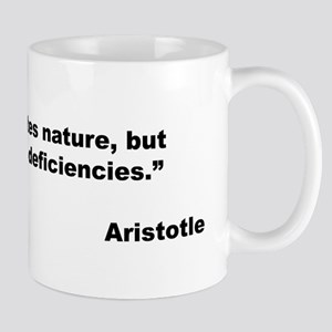 Aristotle Quote on Art & Nature Mug