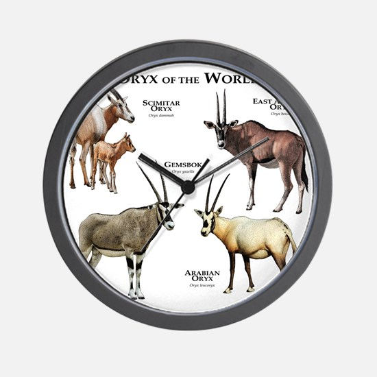 Oryx of the World Wall Clock