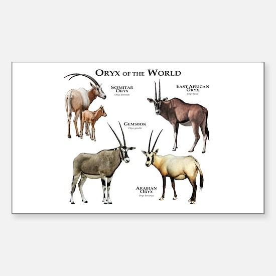 Oryx of the World Sticker (Rectangle)