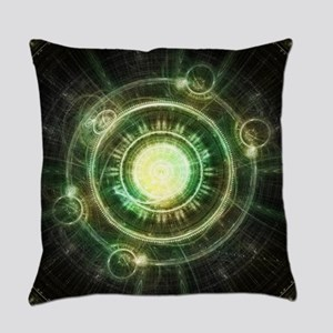 Chaos Clock - The Steampunk Spells Everyday Pillow