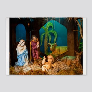 Nativity scene 5'x7'Area Rug