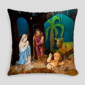 Nativity scene Everyday Pillow