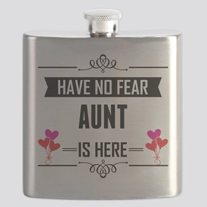 Have No Fear Aunt Is Here Flask