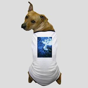Palm Tree Sunburst Denim Dog T-Shirt