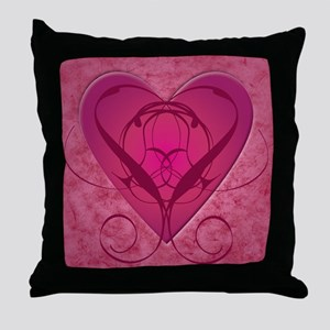 Tangled Heart Graphic Throw Pillow