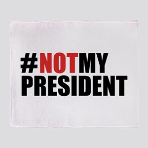 #NotMyPresident Throw Blanket