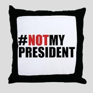 #NotMyPresident Throw Pillow