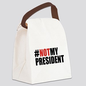 #NotMyPresident Canvas Lunch Bag
