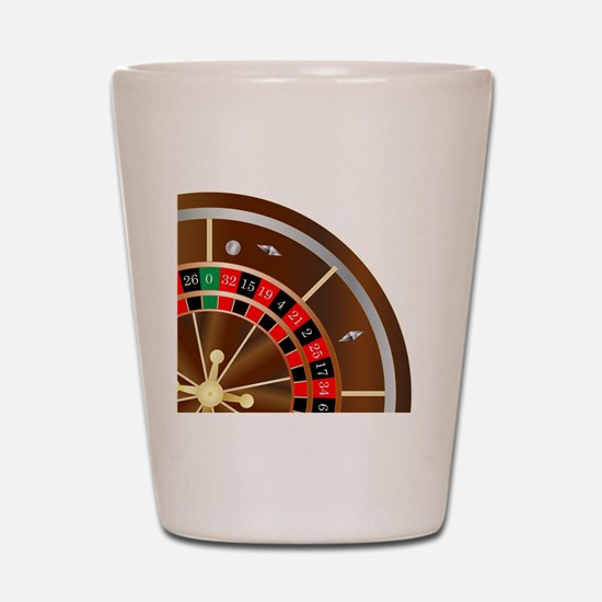Funny Roulette Shot Glass