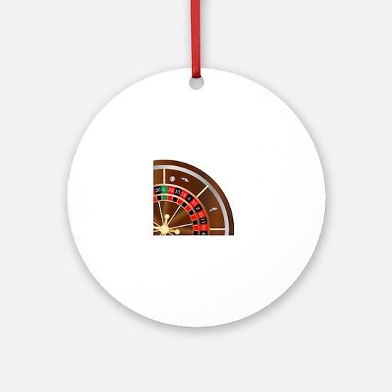 Unique Roulette Round Ornament