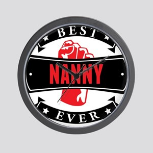 Best Nanny Ever Wall Clock