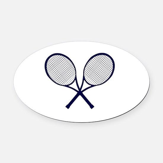 Unique Tennis Oval Car Magnet