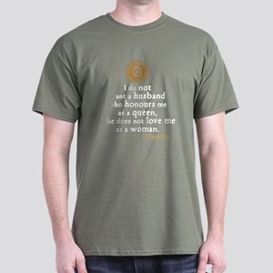 Queen Elizabeth I Marriage Quote Dark T-Shirt