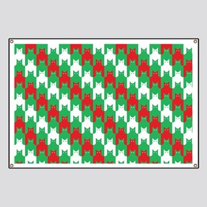 Christmas Catstooth Pattern Banner