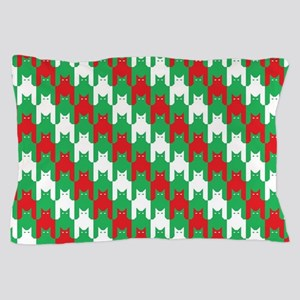 Christmas Catstooth Pattern Pillow Case